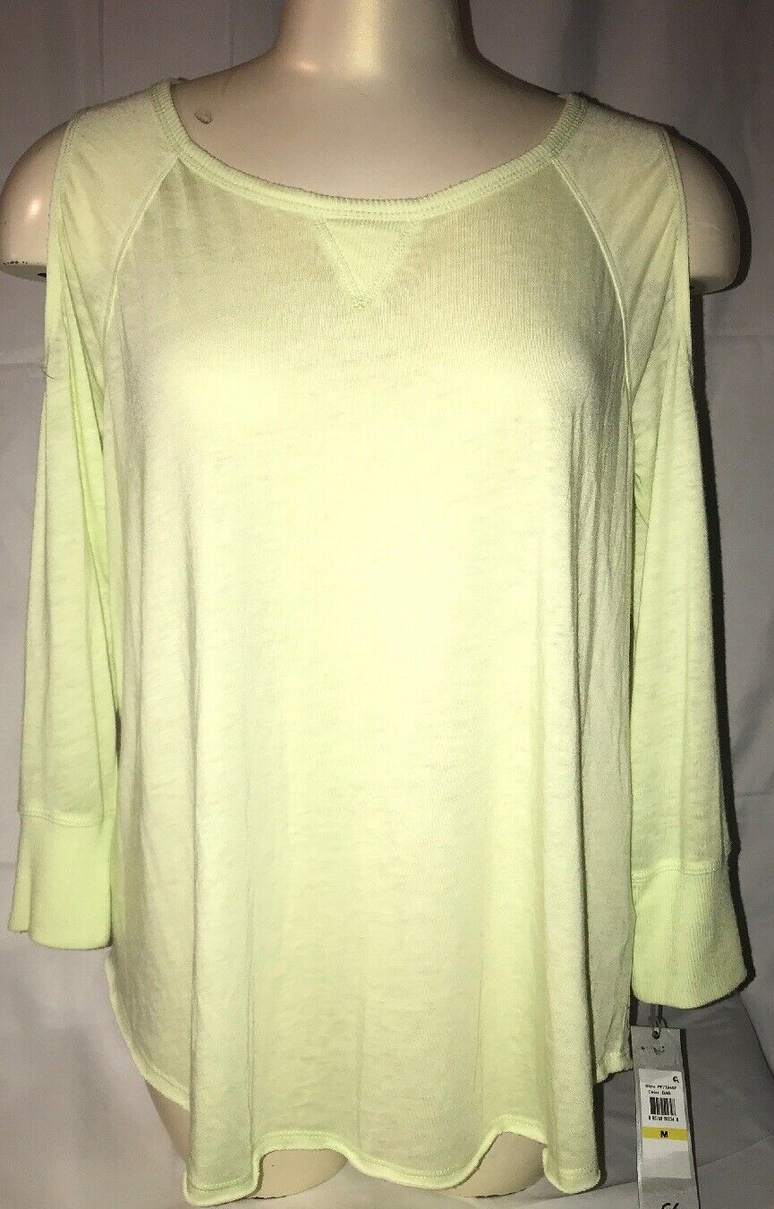 Primary image for CALVIN KLEIN PERFORMANCE WOMENS Medium COLD SHOULDER FITNESS PULLOVER TOP