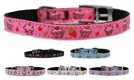 "CUPCAKES Dog Collar w/ Classic Buckle * ⅜"" Wide... - $9.89 - $11.87"
