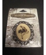 Rabbit Pendant of Metal and Epoxy  from Blue Moon Manor House - $1.75