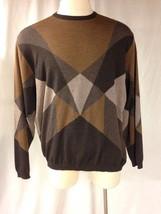 St Croix Merino Wool Sweater XL Brown Tan Tasmere USA - $28.70