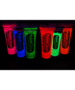 PaintGlow 10ml/.34oz Blacklight Reactive Face and Body Paint- 6 Pack Sam... - $17.95