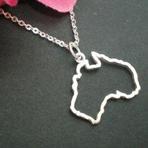 Silver Outline Australia Map Necklace - Sydney, Melbourne, Perth, Brisbane, Tasm image 2