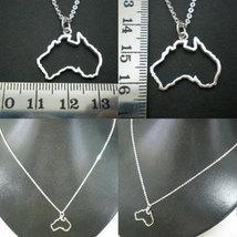 Silver Outline Australia Map Necklace - Sydney, Melbourne, Perth, Brisbane, Tasm image 4