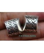 925 Silver Braid Design Earrings SE-189-DG - $21.99