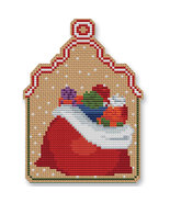 Christmas Sack Ornament Kit cross stitch Colonial Needle  - $13.50