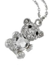 Teddy Bear Necklace w/ Heart - $22.41 CAD