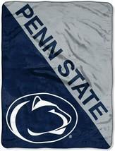 "Licensed NCAA ""Halftone"" Micro Raschel Throw Blanket, 46"" x 60"", Penn State - $21.77"