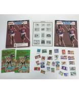 1984 US Summer Olympics Official Album Stamp Collecting Kit US Postal Se... - $23.23