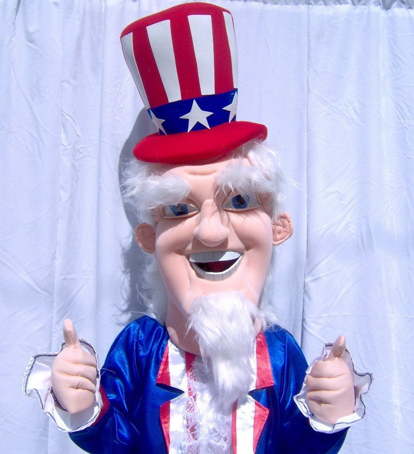 Uncle Sam Mascot Costume Adult Party Costume For Sale
