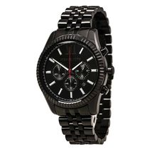 Michael Kors MK8320 Men's Lexington Black Dial Black IP Steel Bracelet W... - $104.90