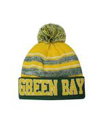 Green Bay Blended Colors Men's Winter Knit Pom Beanie Hat (Green/Gold) - $12.95