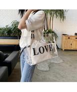 HOT Fashion Transparent Jelly Bag Large Capacity Women's Handbag Tote Bags - £29.26 GBP