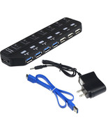7 Port Super Speed 5Gbps USB 3.0+USB 2.0 HUB With Power Adapter For PC - $20.83