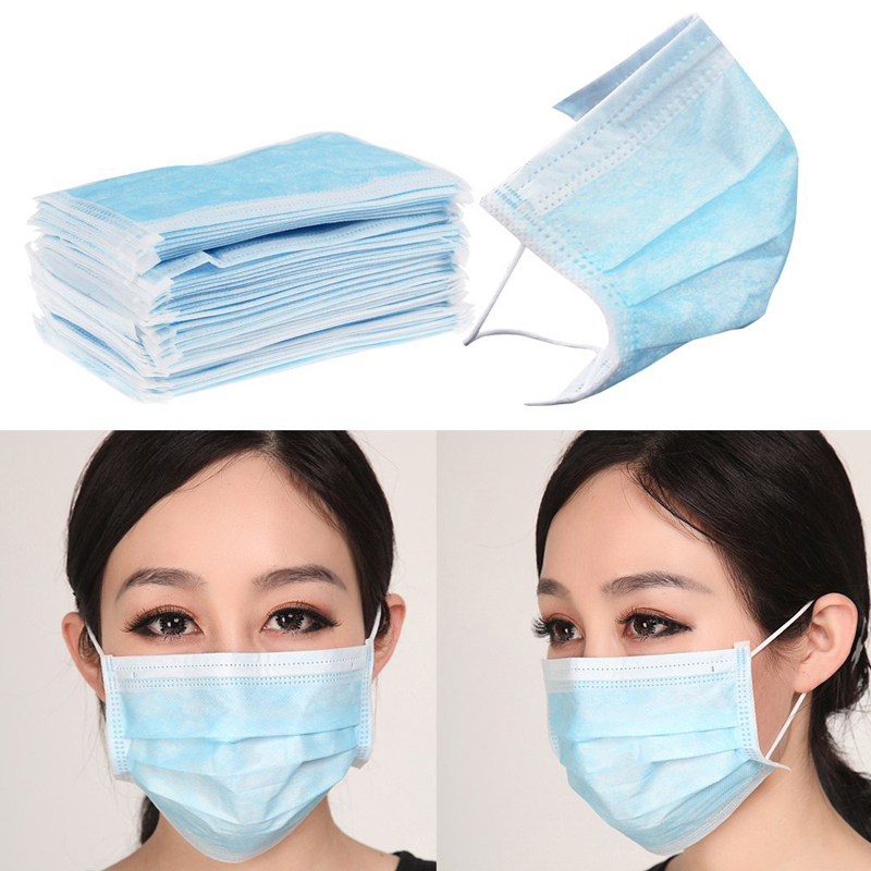 Used, 3-ply Earloop Disposable Anti-Dust Mouth Face Masks Medical Dental Nail Health p for sale  USA