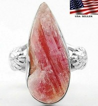 Natural Pink Tourmaline Quartz 925 Sterling Silver Ring Sz 6.75 QA3-2 - $27.71