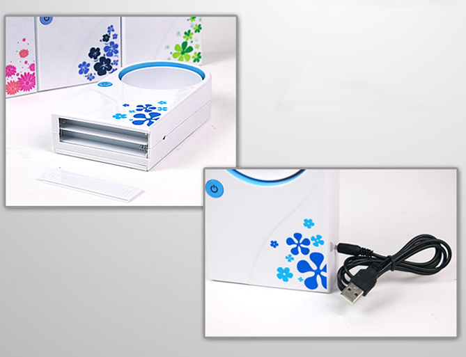USB Mini Portable Bladeless Fan Refrigeration Desktop Air Conditioner