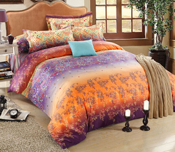 Bedding Set Print Reactive100% Cotton High Thread Count 4 pcs floral set 3-03 - $141.00+