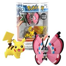 TOMY Year 2014 PokeMon XY Series 2 Pack 2 Inch Tall Figure - PIKACHU (El... - $19.99
