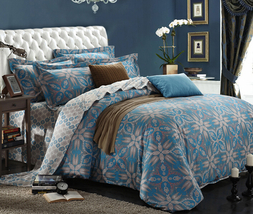 Bedding Set Print Reactive100% Cotton High Thread Count 4 pcs floral set 3-06 - $141.00+