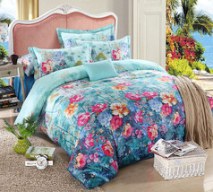 Bedding Set Print Reactive100% Cotton High Thread Count 4 pcs floral set 3-07 - $141.00+