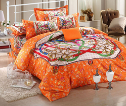 Bedding Set Print Reactive100% Cotton High Thread Count 4 pcs floral set 3-09 - $141.00+