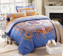 Bedding Set Print Reactive100% Cotton High Thread Count 4 pcs floral set 3-10 - $141.00+