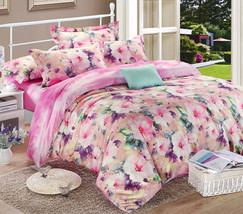 Bedding Set Print Reactive100% Cotton High Thread Count 4 pcs floral set 3-11 - $141.00+