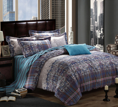 Bedding Set Print Reactive100% Cotton High Thread Count 4 pcs floral set 3-12 - $141.00+