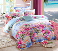 Bedding Set Print Reactive100% Cotton High Thread Count 4 pcs floral set 3-13 - $141.00+
