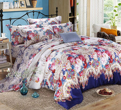 Bedding Set Print Reactive100% Cotton High Thread Count 4 pcs floral set 3-14 - $141.00+