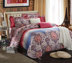 Bedding Set Print Reactive100% Cotton High Thread Count 4 pcs floral set 3-16 - $141.00+