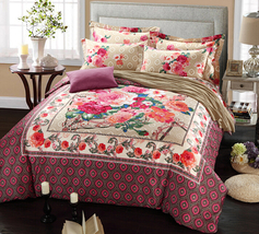 Bedding Set Print Reactive100% Cotton High Thread Count 4 pcs floral set 3-17 - $141.00+