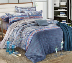 Bedding Set Print Reactive100% Cotton High Thread Count 4 pcs floral set 3-19 - $141.00+