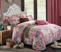 Bedding Set Print Reactive100% Cotton High Thread Count 4 pcs floral set 3-21 - $141.00+