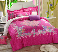 Bedding Set Print Reactive100% Cotton High Thread Count 4 pcs floral set 3-22 - $141.00+