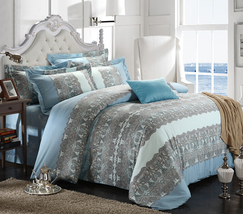 Bedding Set Print Reactive100% Cotton High Thread Count 4 pcs floral set 3-24 - $141.00+