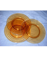 AMBER DEPRESSION GLASS SALAD PLATES(10 available) - $9.99