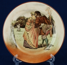 "Royal Doulton Sir Roger de Coverley 6.5"" Bread Plate D3418 I-10 Courtshi... - $12.00"