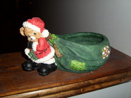 Christmas Santa Bear candy dish - $6.00