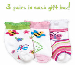 Newborn Girls Busy Bee 3 Pack Gift Box Size 0-3 Months - $10.00