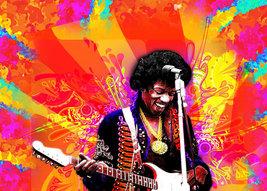 Jimi Hendrix  Color Burst Poster   2.5 x 3.5 Fridge Magnet - $3.99