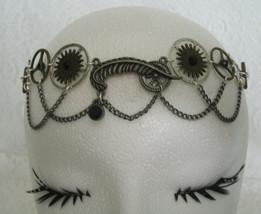 Steampunk Circlet, rockabilly gothic crown head... - $38.00