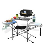 Portable Grilling Table Outdoor Camp Backyard Grill Steel Frame W/ Carry... - $125.77