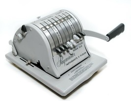 Paymaster Ribbon Writer 8000 Series Check Money Order Protector With Key... - $29.21