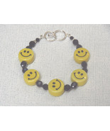 Happy Face or Smiley Face Bracelet Porcelain St... - $23.50