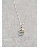 Number One Teacher Charm Sterling with Chain - $18.99