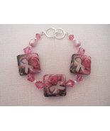 Decoupage Breast Cancer Awareness Ribbon Bracelet - $23.50