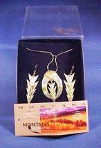 Montana Silversmith Lightning Bolt Necklace Pierced Earrings Set Vintage - $75.00