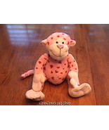 GANZ WEBKINZ LOVE MONKEY HM343 WITH HEARTS VERY SOFT VELOUR PLUSH *NO CODE* NWOT - $3.49