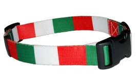 Large Italian Flag Dog Collar by PatriaPet - $15.00